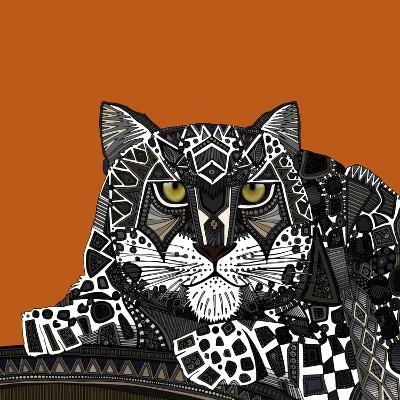 Snow Leopard Orange-Sharon Turner-Art Print