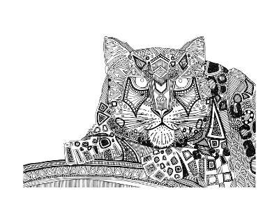Snow Leopard (Variant 1)-Sharon Turner-Art Print