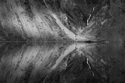 Snow Melt Infused Kirby Creek Illuminated By Light Between Clouds, Snake River, Hells Canyon, Idaho-Ben Herndon-Photographic Print
