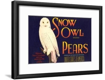 Snow Owl Pear Label