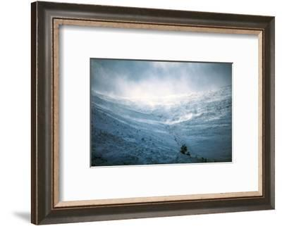 Snow storm, blowing snow on mountain in Scotland-Sue Demetriou-Framed Photographic Print