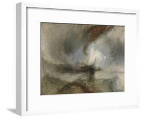 Snow Storm - Steam-Boat Off a Harbour's Mouth-J^ M^ W^ Turner-Framed Giclee Print