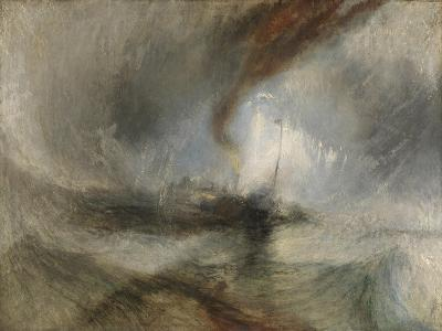 Snow Storm - Steam-Boat Off a Harbour's Mouth-J^ M^ W^ Turner-Giclee Print