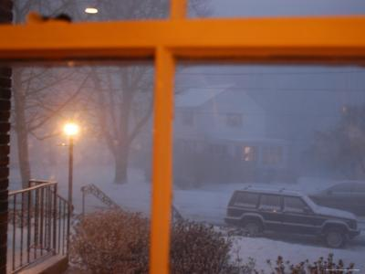 Snow Storm Through a House Window, Chevy Chase, Maryland-Stacy Gold-Photographic Print