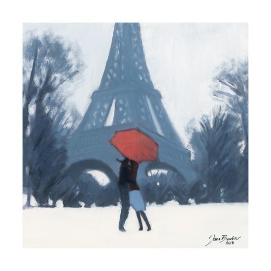 Snow Time For A Kiss-Jon Barker-Giclee Print