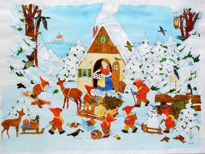 Snow White and the Seven Dwarfs-Christian Kaempf-Giclee Print