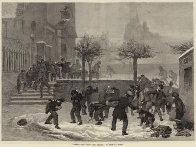 Snowballing--Giclee Print