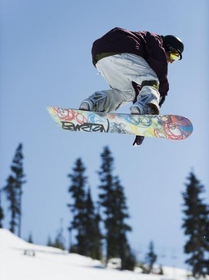 Snowboarder Jumping at Telus Half Pipe Competition 2009, Whistler Mountain-Christian Kober-Photographic Print
