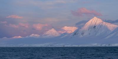 Snowcapped Mountain Along the Gerlache Strait, Antarctica-Jeff Mauritzen-Photographic Print