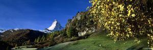 Snowcapped Mountain, Matterhorn, Valais, Switzerland