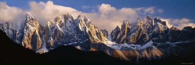 Snowcapped Mountain Peaks, Dolomites, Italy--Photographic Print