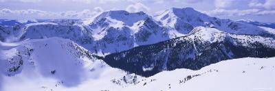 Snowcapped Mountain Range, Raft Mountain, Wells Gray Provincial Park, British Columbia, Canada--Photographic Print