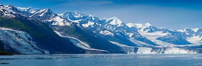 Snowcapped Mountains at College Fjord of Prince William Sound, Alaska, USA
