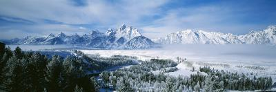 Snowcapped Mountains in Grand Teton National Park, Wyoming., USA--Photographic Print