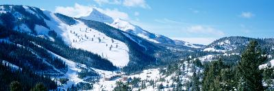 Snowcapped Mountains, Lone Mountain, Big Sky, Montana, USA--Photographic Print