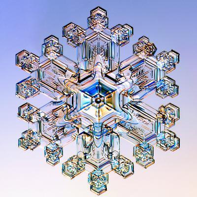 Snowflake-Kenneth Libbrecht-Photographic Print