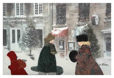 Snowing Day-Diane Ethier-Art Print