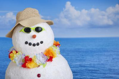 Snowman at Sea-Tetra Images-Photographic Print