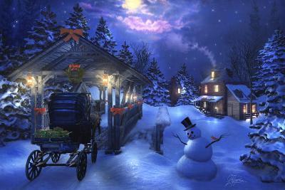 Snowman Crossing-Joel Christopher Payne-Giclee Print