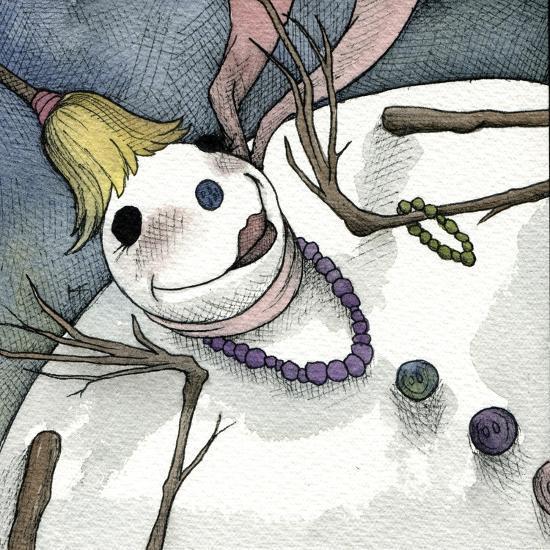 Snowman III-Kory Fluckiger-Giclee Print