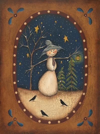 Snowman Lantern-Kim Lewis-Art Print