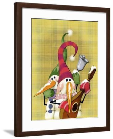Snowman Mandolin 2-Margaret Wilson-Framed Giclee Print