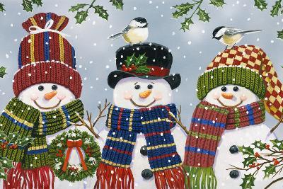 Snowman Trio-William Vanderdasson-Giclee Print