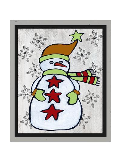 Snowman Two-Craft-Shanni Welsh-Art Print