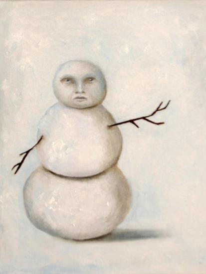 Snowman-Leah Saulnier-Giclee Print