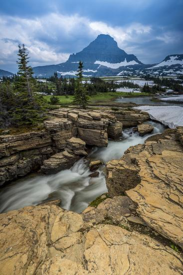 Snowmelt Stream in Glacier National Park, Montana-Howie Garber-Photographic Print