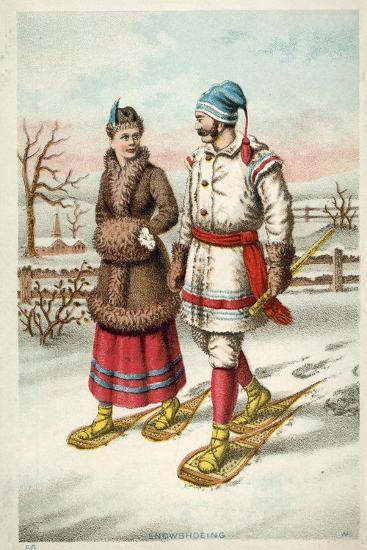 Snowshoeing--Giclee Print