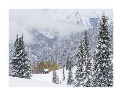 Snowstorm Along Highway 550-Don Paulson-Giclee Print
