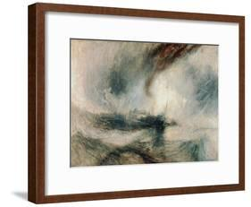 Snowstorm at Sea, 1842-J^ M^ W^ Turner-Framed Giclee Print