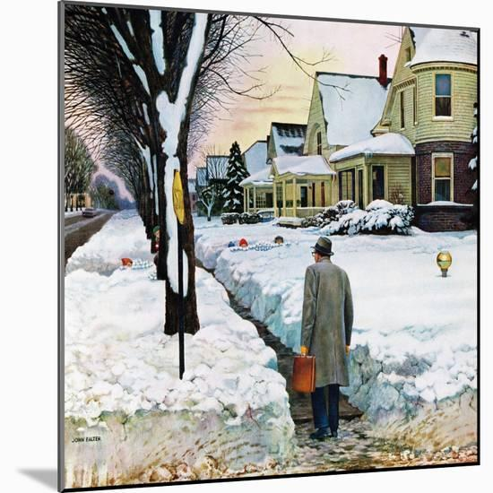 """Snowy Ambush"", January 24, 1959-John Falter-Mounted Giclee Print"