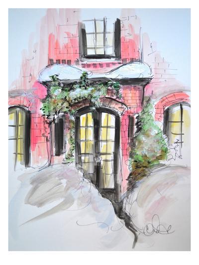 Snowy Bricks in Beacon Hill-Cara Francis-Art Print