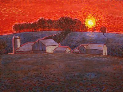 Snowy Farm-John Newcomb-Giclee Print