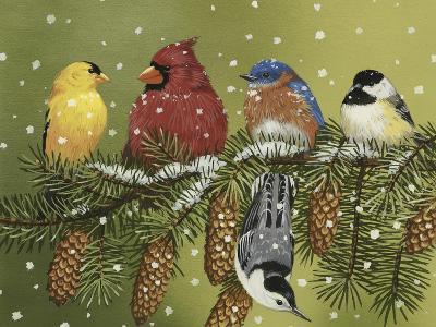 Snowy Feathered Friends-William Vanderdasson-Giclee Print