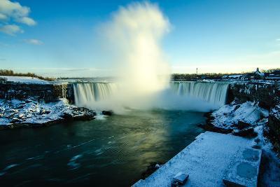 Snowy Niagara-Naeem Jaffer-Photographic Print