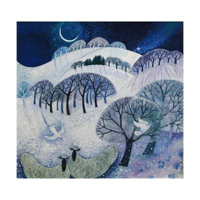 Snowy Night-Lisa Graa Jensen-Giclee Print
