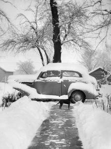 Snowy Scene in Illinois, Ca. 1940