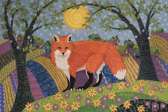 Snowy Spring Fox-K.C. Grapes-Giclee Print