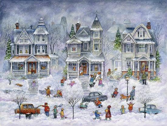 Snowy Streets-Bill Bell-Giclee Print