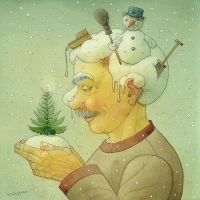 Snowy Winter, 2006-Kestutis Kasparavicius-Giclee Print