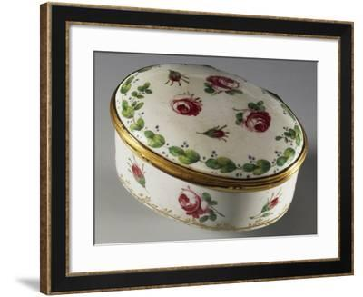Snuffbox Decorated with Roses, Ca 1750--Framed Giclee Print