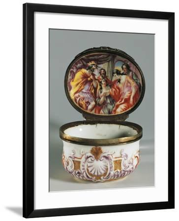 Snuffbox Decorated with Shells and Rocaille Scrolls with Biblical Episode--Framed Giclee Print