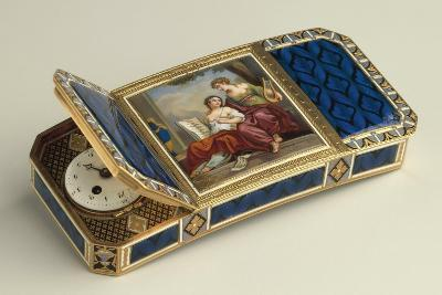 Snuffbox with Clock--Giclee Print