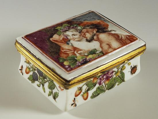 Snuffbox with Floral Decorations and Fauns--Giclee Print