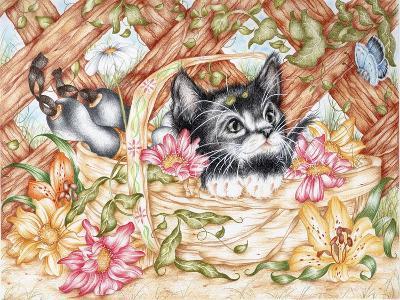Snug in a Trug-Karen Middleton-Giclee Print