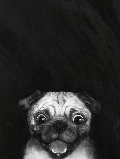 Snuggle Pug-Laura Graves-Art Print