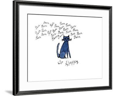 So Happy, c.1958-Andy Warhol-Framed Giclee Print